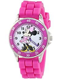 Minnie Mouse Kids' Analog Watch with Silver-Tone Casing,...