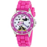 Disney Girl's Quartz Metal and Rubber Watch, Color:Pink (Model: MN1157)