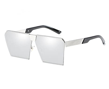 Retro Metal Caja Grande Gafas De Sol Europa Tendencia Moda ...
