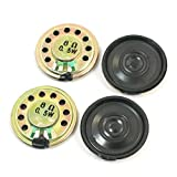 Magnet Speaker - TOOGOO(R)4Pcs 0.5W 8 Ohm 28mm Dia Mini Metal Inside Magnet Music Player Speaker