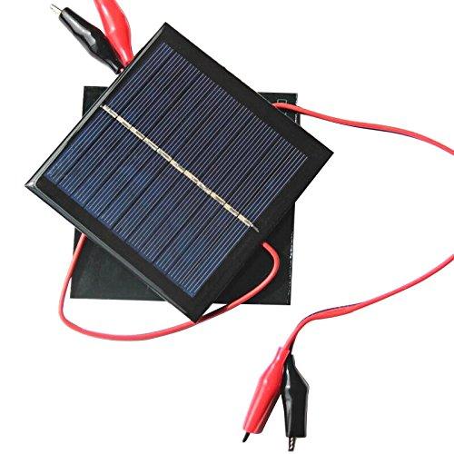 AOSHIKE 5.5V 1W Solar Panel DIY Photovoltaic Solar Cell Car Lamp Light Sun Power Sunpower 95x95mm H