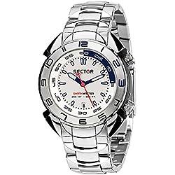 Sector Men's R3253178045 Shark Master Analog Display Quartz Silver Watch