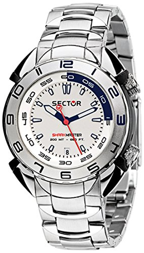 Sector Men's R3253178045 Shark Master Analog Display Quartz Silver Watch
