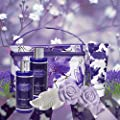 Mother's Day Gifts, Bath and Body Gift Set For Women and Men – Lavender and Jasmine Home Spa Set With Rose Soaps, Double Sized Bath Bombs, Reusable Travel Cosmetics Bag and More