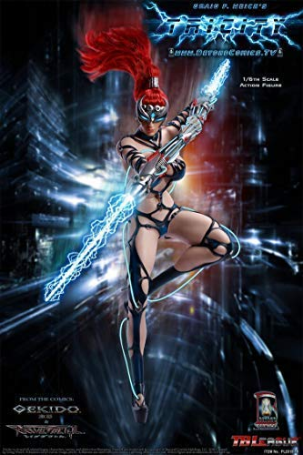 TBleague Phicen TRICITY Goddess of Lightning Gekido 1/6th Scale Action Figure Deluxe Exclusive Super Flexible Female Seamless Body Action Figure Collectible Figurine Toys Animation Comics Sexy Gift