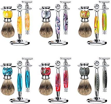 Care Set_Beard Care Hu Brush Cuchilla de afeitar manual Vintage ...