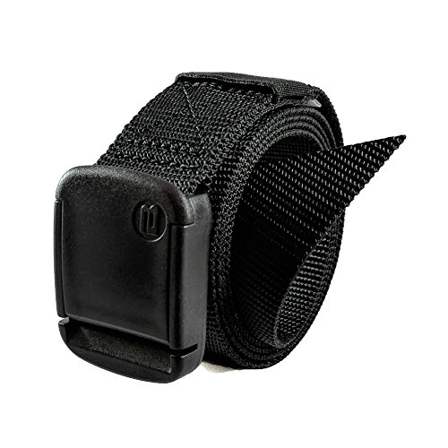 1.25 Inch Nylon Web Belt with Adjustable Buckle, Unisex (Small, Black) (Pants Similar To The Limited Exact Stretch)