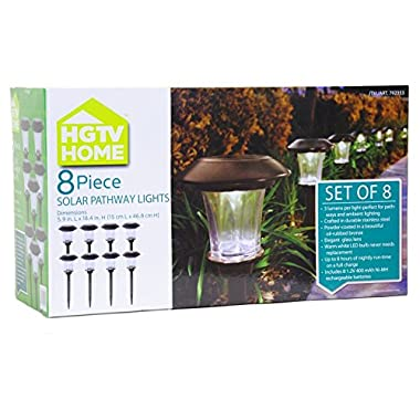 HGTV Solar LED Pathway Lights - 8 pack