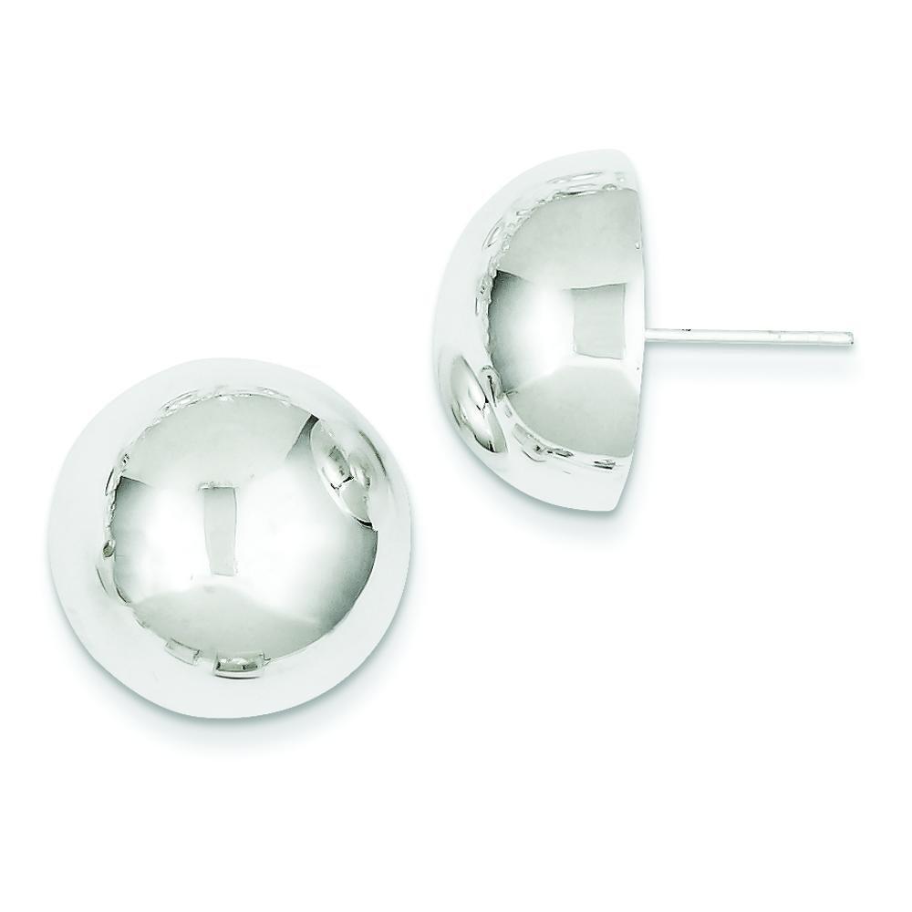 Sterling Silver Half Ball Earrings Jewelry 18mm