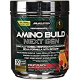 MuscleTech Amino Build Next Gen, Clinically Dosed, Performance-Enhancing BCAA Formula with Betaine, Fruit Punch, 10oz (284g)