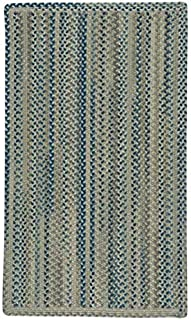 "product image for Capel Melange Blue Beige 5' 0"" x 8' 0"" Vertical Stripe Rectangle Braided Rug"