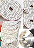 4 Inch 100mm Diamond 4'' Polishing Pad 260+1 Pieces Aluminum 5/8''-11 Thread Back GRANITE Concrete Travertine Stone Glass Marble