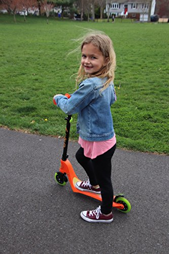 Flybar Aero 2-Wheel Kick Scooter For Kids With Grip Tape Deck, ABEC 5 Bearings, 125mm Light Up Wheels & Adjustable Handlebars - Holds Weights Up To 175 Lbs by Flybar (Image #6)