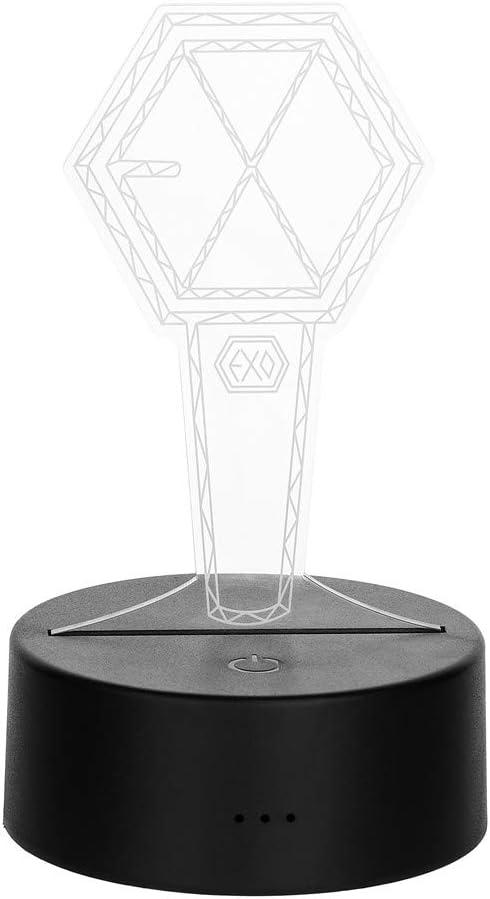 Kpop EXO 7 Colors LED Night Light USB Acrylic Home Room Decoration
