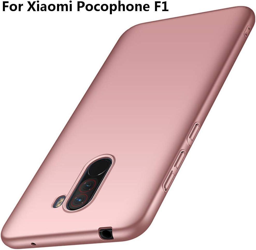 XunEda Funda Xiaomi Pocophone F1,Xiaomi Poco F1 6.18 Ultra-Delgada Antideslizante Mate Acabado PC Funda Protectora Dura Carcasa para Xiaomi Pocophone F1,Xiaomi Poco F1 Smartphone(Rosa Claro): Amazon.es: Electrónica