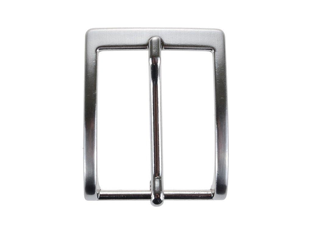 La Bottega del Calzolaio Fibbia per cinture nichel free anallergica 3.5 cm