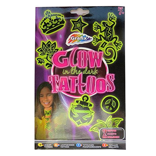 Girls Glow in the Dark Temporary Tattoos - 20 Individual Designs -