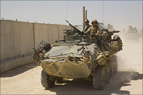 - 20x30 Poster; U.S. Marines From Light Armored Reconnaissance Battalion Leave Camp Korean Village, Iraq, On Sept. 10, 2007