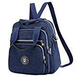 Travistar Backpack Handbag Backpack - Waterproof Nylon Lightweight Shoulder Bags Messenger Cross Body Casual Daypack Multifunction for Girls and Women