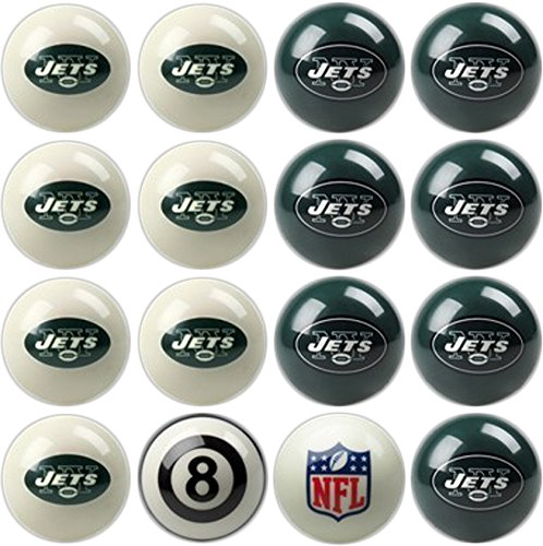 Imperial Officially Licensed NFL Merchandise: Home vs. Away Billiard/Pool Balls, Complete 16 Ball Set, New York Jets