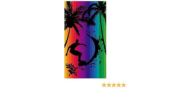 Toalla playa 100% algodon egipcio (surfero multicolor) (160 x 180 CM): Amazon.es: Hogar