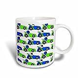 Best 3dRose Boy Stuffs - 3dRose Boy Stuff Blue and Green Racecar Print Review