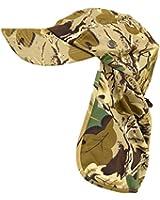 Woodland Camo Flap Cap