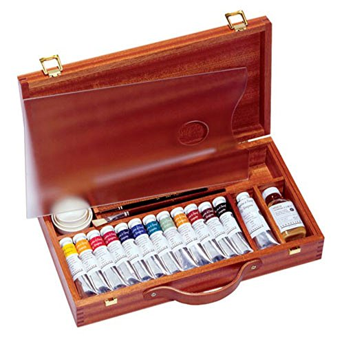 Sennelier Egg Tempera in a luxury Wood Set of 13 Tubes - Best Price on Web! by Sennelier