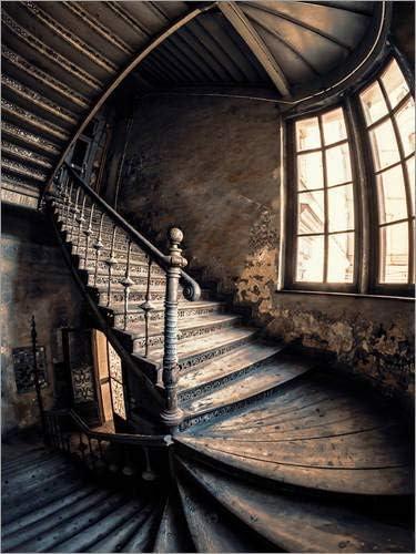 Posterlounge Cuadro de metacrilato 50 x 70 cm: Forgotten Staircase de Jaroslaw Blaminsky: Jaroslaw Blaminsky: Amazon.es: Hogar