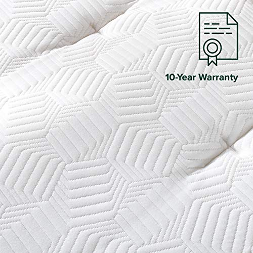 Zinus 13 Inch Euro Top Pocket Spring Hybrid Mattress / Pressure Relief / Pocket Innersprings for Motion Isolation / Bed…