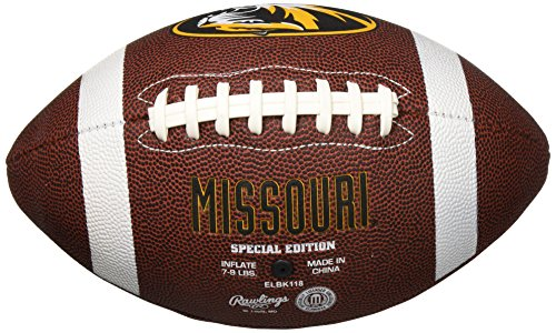 Big Time Football - NCAA Game Time Full Size Football , Missouri Tigers, Brown, Full Size