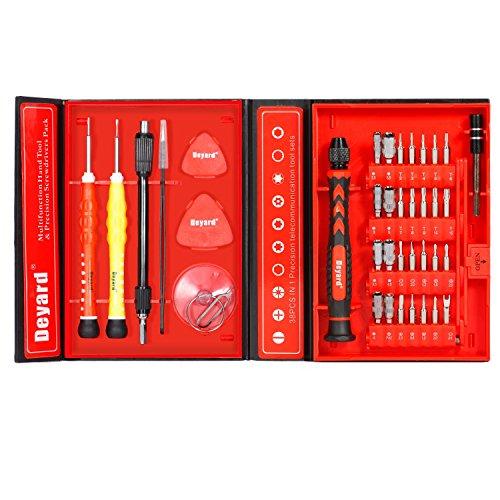 Deyard 38 in 1 Präzisions Schraubenzieher-Set Reparierwerkzeug-Kit um iPhone/Laptop/Smartphone/MacBook/Xbox zu reparieren (mit Gehäuse)