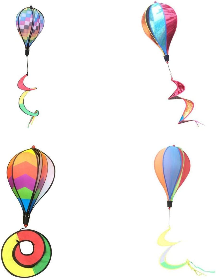 "LEIPUPA 4X Lawn Garden 55"" Hot Air Balloon Windsocks"