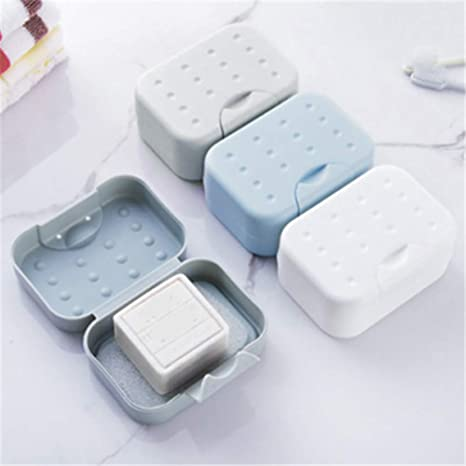 Travel Soap Dish Box Case Holder Container Wash Shower Home Bathroom