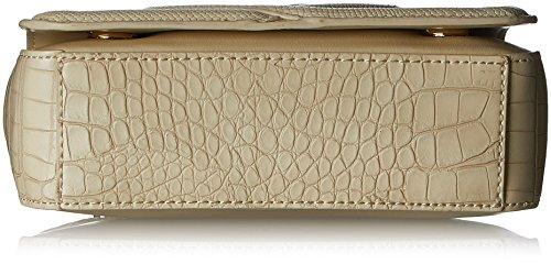 Love Moschino Borsa Calf Pu+croco Pu+liz.pu Avori - Borse Baguette Donna, Weiß (Ivory), 16x22x6 cm (L x H D)