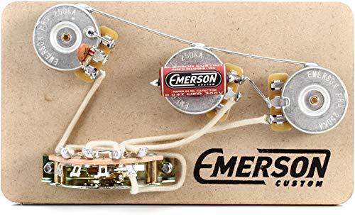Pot Fender - Emerson Custom 5-way Prewired Kit for Fender Stratocasters - 250k Pots