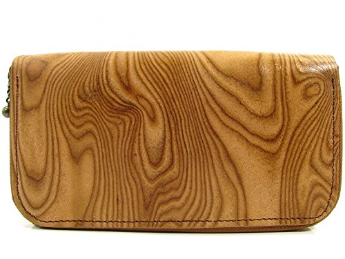 GOWEST(ゴーウエスト)LONG ZIP WALLET SKIMO COW LEATHER Color:WOOD BEIGE Size:F B0784JQ5CB