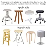 Enerhu Round Bar Stool Cover Faux Leather
