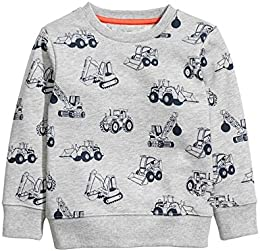 Baby Boys Crewneck Cotton Long Sleeve Sweatershirt