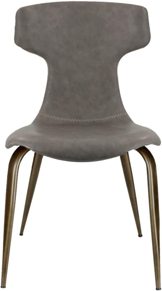 QX Chair Chairs Cafe Dining Faux Leather and Brushed Stainless Steel Finish for for Living Room, Desk, Patio, Terrace, Office, Kitchen, Lounging, Cafeterias More,#1