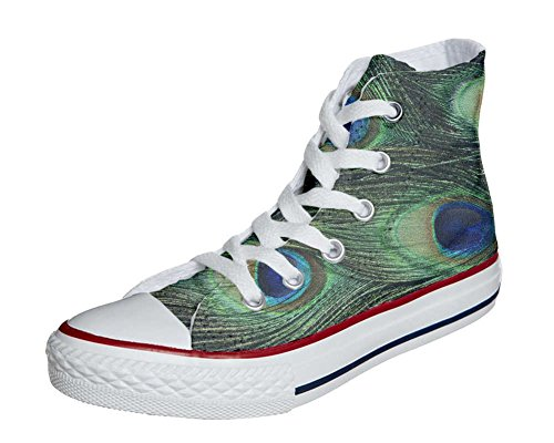 Converse All Star Customized - Zapatos Personalizados (Producto Artesano) Pavo Real