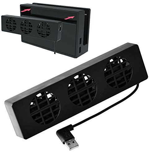 Stand Cooler Fan Dock (Mcbazel Dobe Switch Dock Set Cooling Fan, USB Cooling stand, Cooler with 3 Fans For NS Switch)