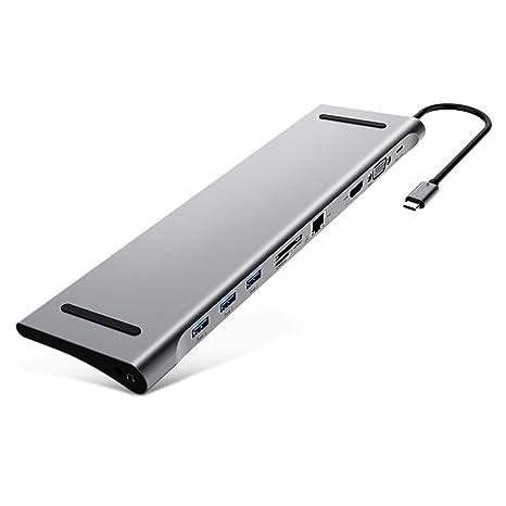 Amazon.com: MXQWD Hub USB C portátil 10 en 1 tipo C ...