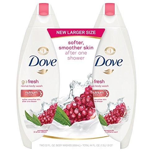 Dove go fresh Body Wash, Pomegranate and Lemon Verbena 22 oz, Twin Pack