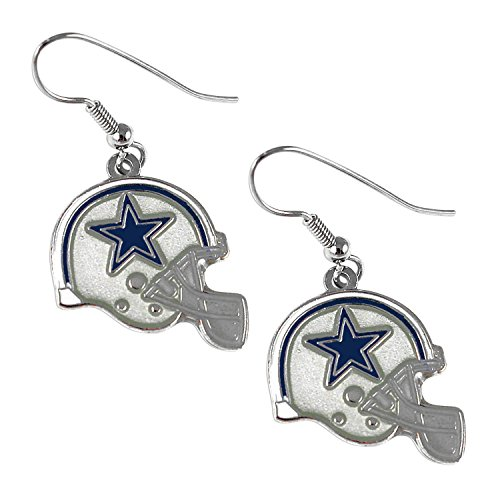 aminco Sports Team Dallas Cowboys J Hook Dangle Logo Earring Set by aminco