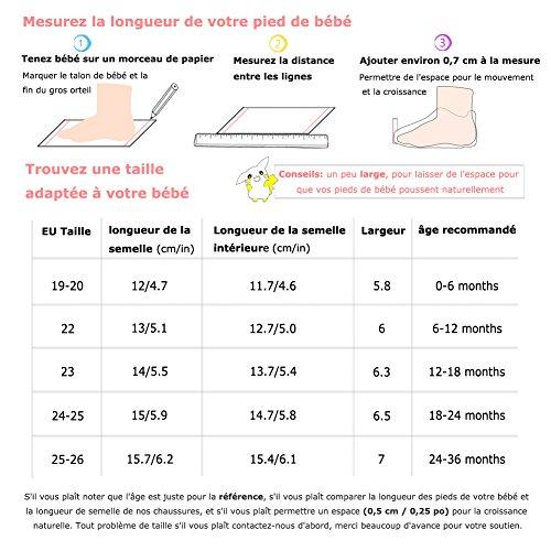 Chaussures Enfant Filles Bébé Doux Chaussons Pas Rouge Garçons Premiers Cuir Souple Yihakids q7tYw