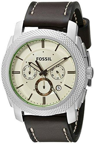 Fossil Men's FS5108 Machine Chronograph Leather Watch – Dark Brown -  Fossil Watches