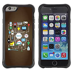 Suave TPU GEL Carcasa Funda Silicona Blando Estuche Caso de protección (para) Apple Iphone 6 PLUS 5.5 / CECELL Phone case / / Google Android Game Idea /