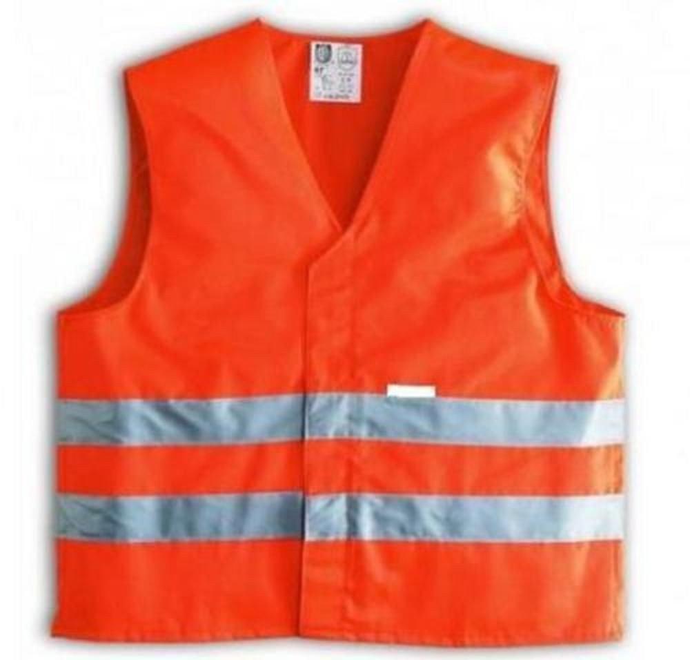 takestop® GIUBBOTTO GILET arancione DI EMERGENZA AD ALTA VISIBILITA' CATARIFRANGENTE RIFLETTENTE AUTO MOTO BICI RUNNIG SICUREZZA MOON P100877