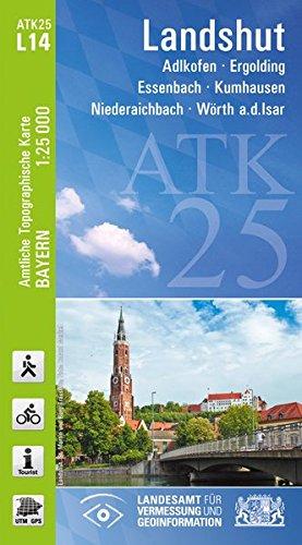 ATK25-L14 Landshut (Amtliche Topographische Karte 1:25000): Adlkofen, Ergolding, Essenbach, Kumhausen, Niederaichbach, Wörth a.d.Isar (ATK25 Amtliche Topographische Karte 1:25000 Bayern)
